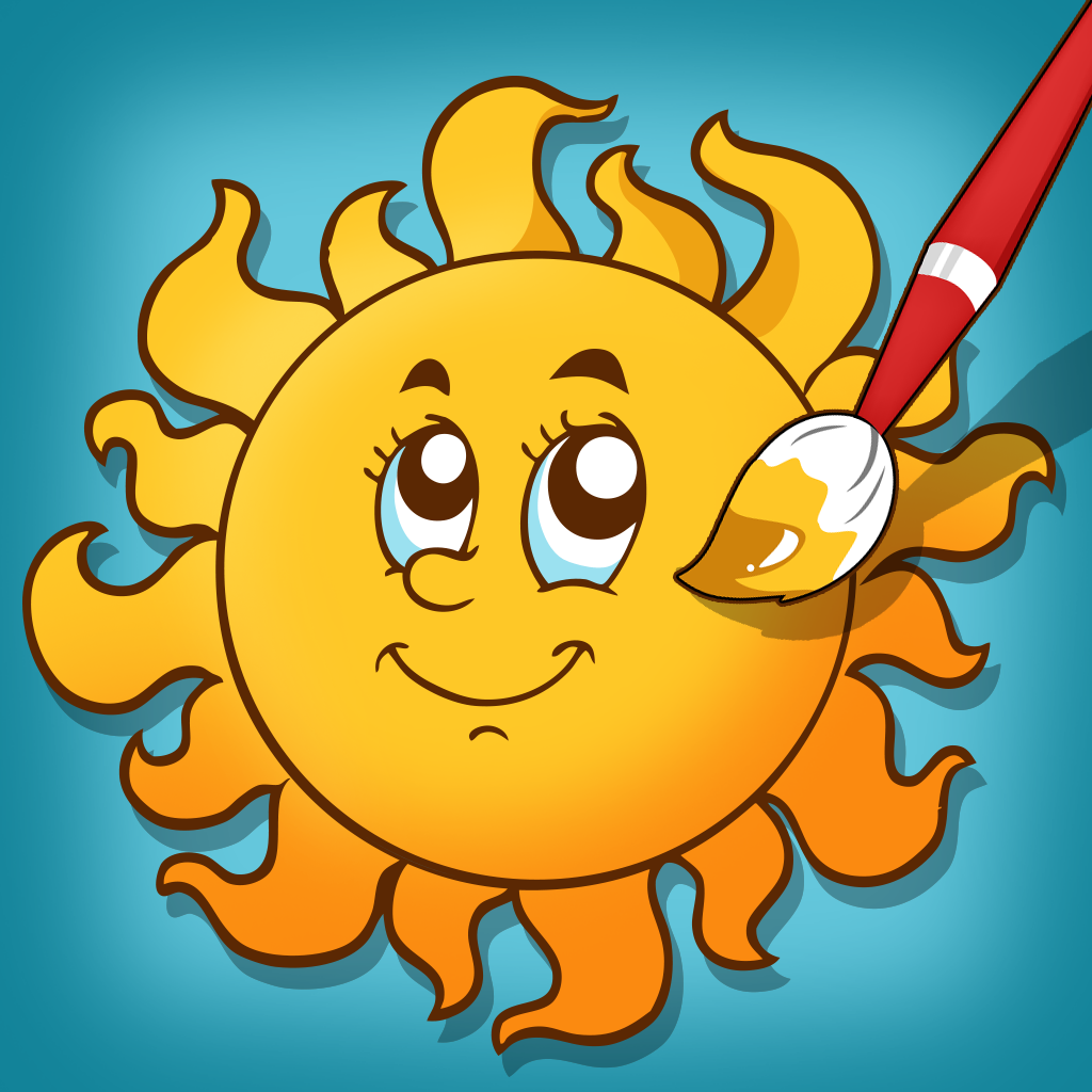 Active Weather Coloring Book for Children: Learn to color the world of sun, rain and clouds